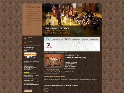 Nagashwebseite Screenshot